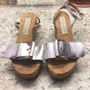 Silver straps Stella McCartney wedges